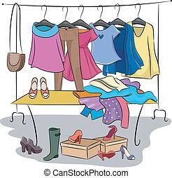 acessórios, roupas