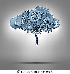 acesso, nuvem
