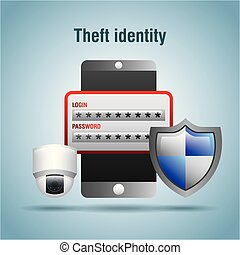 acesso, proteção, roubo, login, senha, segurança, identidade