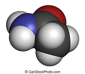 Acetamide (ethanamide) molecule. Used as plasticizer and industr