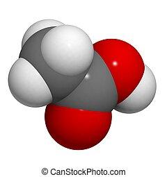 acetic, οξύ , χημικός , δομή