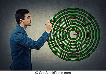 achando, labirinto, solução