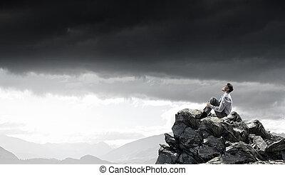 achar, isolado, inspiração