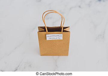 achat, achats, sourced, concept, articles, moralement, étiquettes, sac, produits, eco-amical, soutenable, intentional