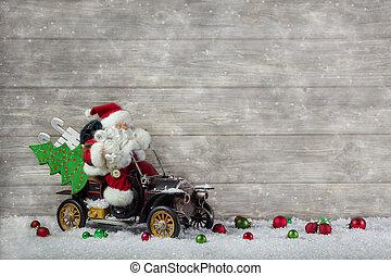 achat, claus, santa, hâte, noël, rouges, decoration:
