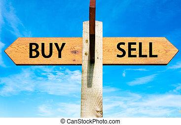 achat, contre, vendre