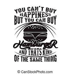 achat, mais, bon, chose, hamburger, espèce, t, boîte, ...
