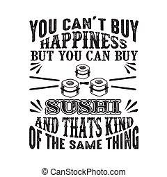 achat, mais, bon, chose, t, sushi, espèce, boîte, bonheur, ...