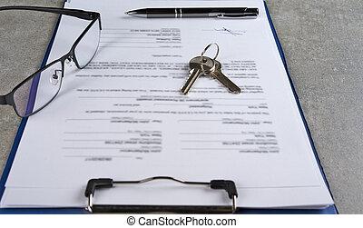 achat, maison, prêt, après, accord, signé, approbation