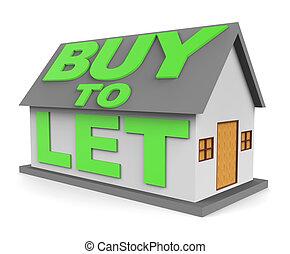 achat, moyens, rendre, laisser, propriétaire, achat, 3d