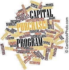 achat, programme, capital