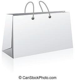 achats, blanc, bag.