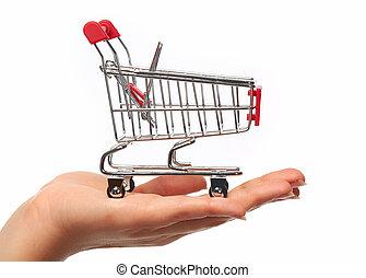 achats, cart., main