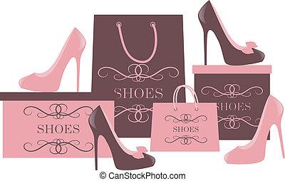 achats, chaussure