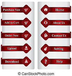 achats en ligne, boutons