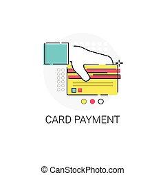achats, encaisser ligne, paiement, carte, icône