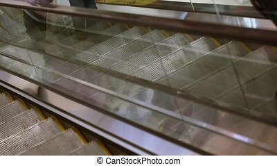 achats, escalator, centre