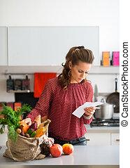 achats femme, comparer, articles, liste, sac, cuisine