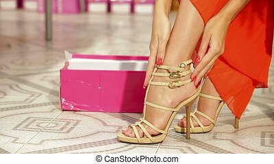 achats femme, magasin chaussures