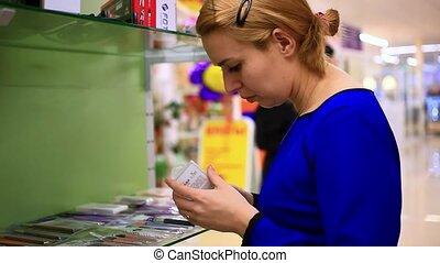 achats femme, quelques-uns, jeune, femmes, produits de beauté, hd., goods., magasin, selects, blond, 1920x1080