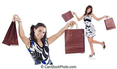 achats, filles, deux