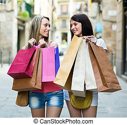 achats, filles, sacs
