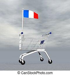 achats, -, francais, render, 3d