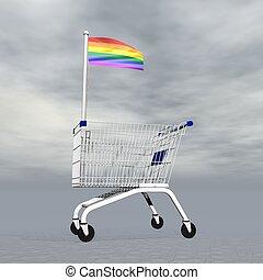 achats, -, gay, render, 3d