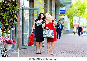 achats, heureux, plus, femmes, taille