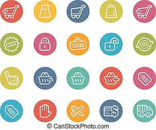 achats, icônes
