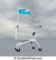 achats, international, -, render, 3d