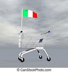 achats, italien, -, render, 3d