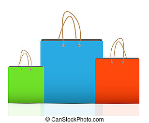 achats, marquer, illustration, sac, vecteur, publicité, vide