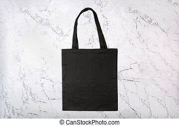 achats, modèle, sac, arrière-plan noir, naturel, marbre