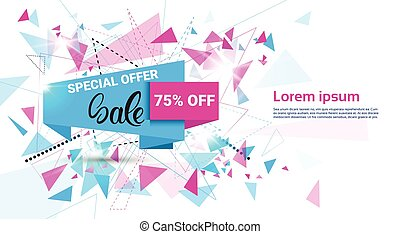 achats, offre, printemps, vente, vacances, bannière, spécial