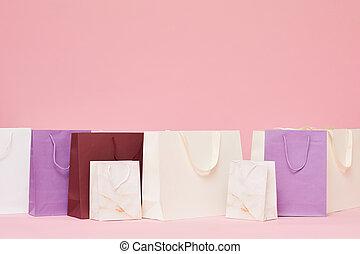 achats, sacs papier
