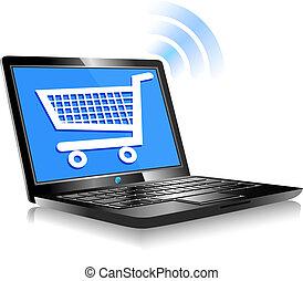 achats, sur, internet