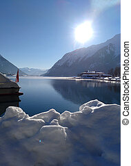 achensee, inverno, lago