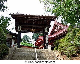 Achi Village, Nagano, Japan - Chogakuji Tempel in Achi...