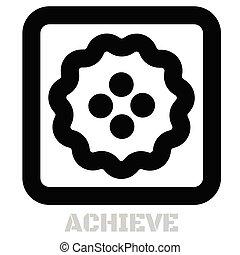 Achieve conceptual graphic icon