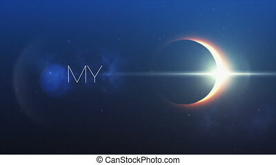 Achieve my goals and solar eclipse - Digitally generated...