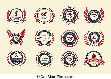 Achievement Badges - Achievement badges for games or...
