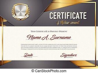 achievement., certificado, premium.