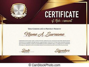 achievement., certificato, premium.