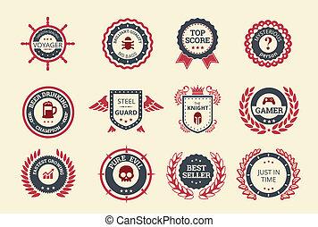 achievement, emblemer