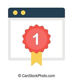 achievement flat icon