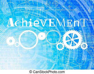 Achievement High Tech Background - Achievement word on high...