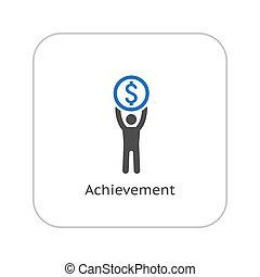 Achievement Icon. Business Concept. Flat Design.