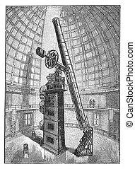 refracting telescope of the observatory of Hamilton mountain in Califormia