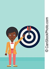 Achievement of business goal vector illustration.